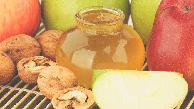 Мед, фрукты, орехи