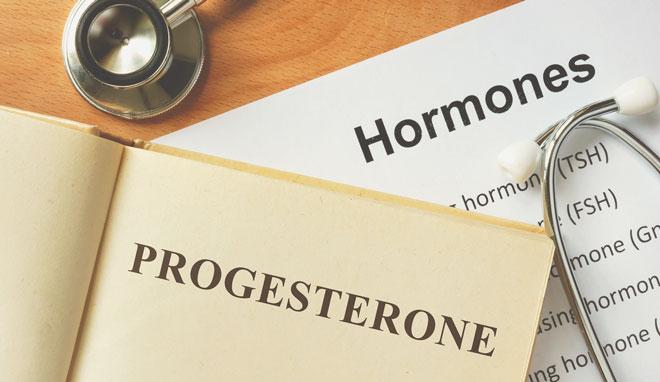 Надпись «Гормоны: прогестерон»