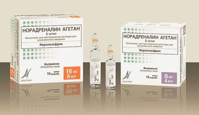 Препарат Норадреналин Агетан
