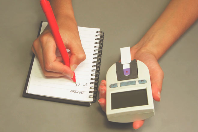 Показатели инсулина в блокноте
